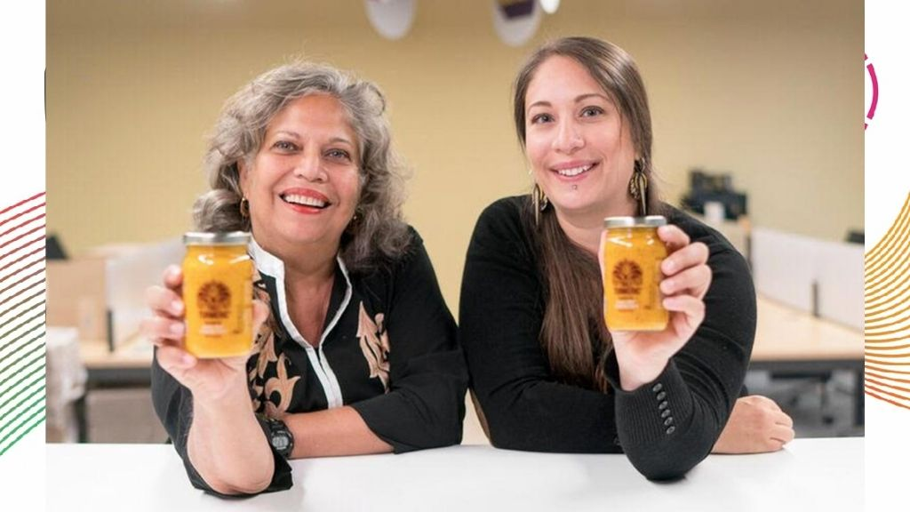 Umeeda (l) and Nareena Switlo, creators of Naledo Foods and Beverages and Naledo Belize. (Photos: Contributed)