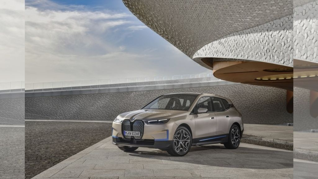 German luxury automaker BMW on Wednesday, gave an early look at a new battery-powered SUV that illustrates the company's future plans for electric-powered driving, the BMW iX SAV. (BMW via AP)