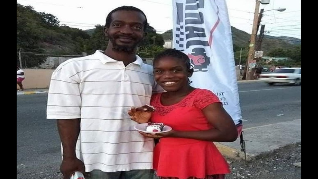 Romeo Leechman and his daughter Saneeka in happier times