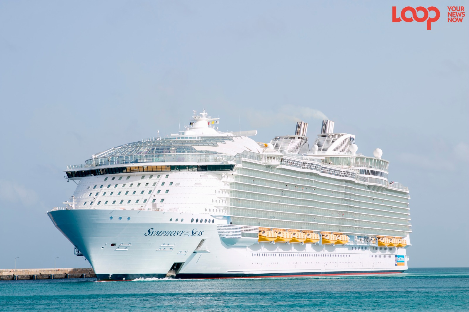 Symphony of the Seas birthed at the Bridgetown Port during the No-Sail period due to COVID-19. (FILE)