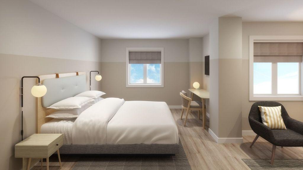 Guest suite rendering.