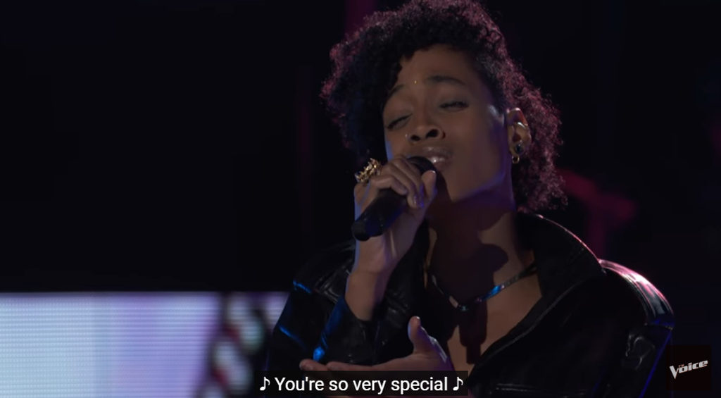 Payge Turner is through to the live round of The Voice following a heartfelt rendition of Radiohead's 'Creep'.
