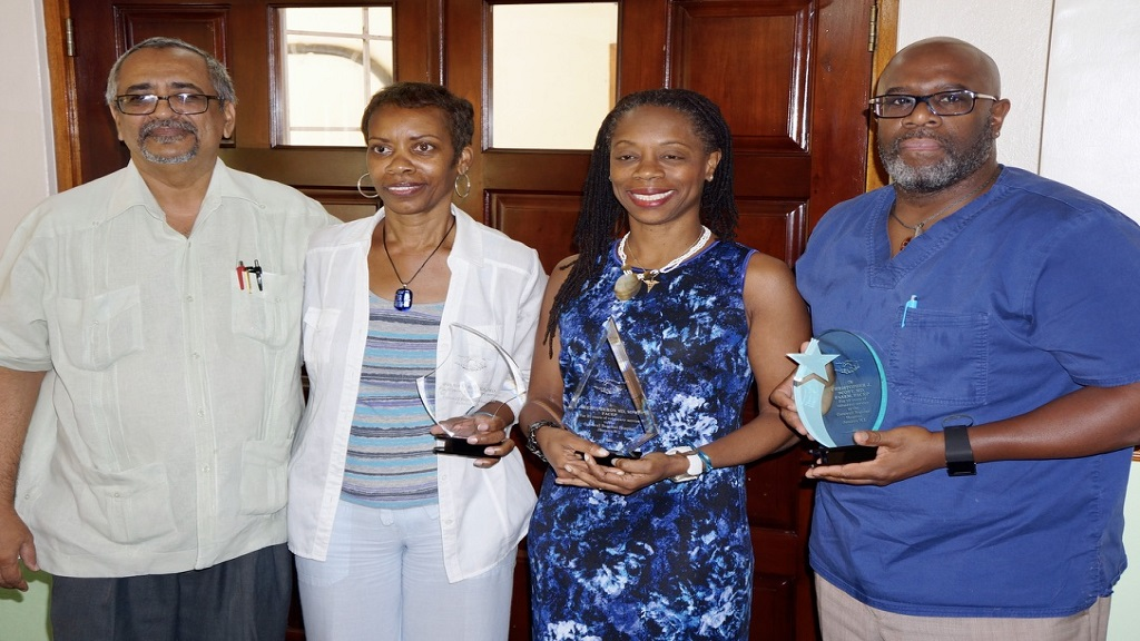 FLASHBACK to 2015, the 20th year of service to patients at the Cornwall Regional Hospital, (from left) Dr Delroy Fray, Dr Patricia Baines, Dr Sheryl Heron and Dr Christopher Scott.