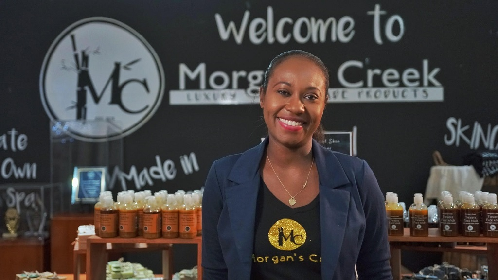 Joni-Dale Morgan operates Morgan's Creek, a local manufacturer of luxurious skincare products.