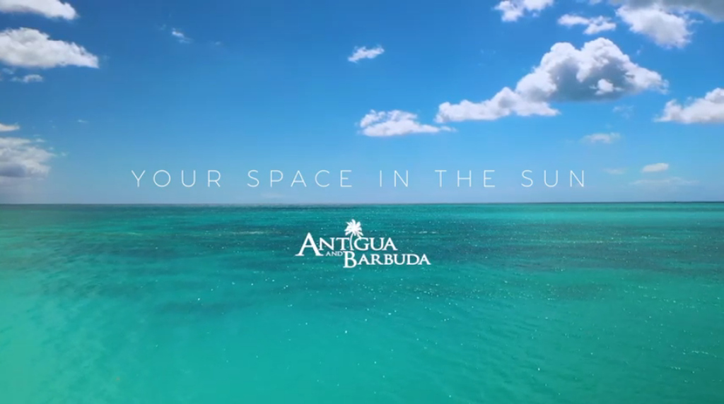 Antigua and Barbuda won the Magellan 'Travel Destinations' Gold Award for its Your Space in the Sun campaign. Photo: Screenshot from the campaign video.