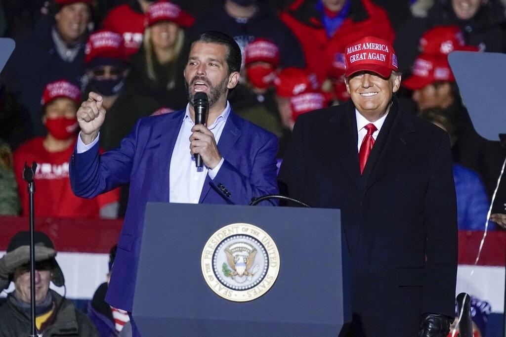 Donald Trump and his son Donald Trump Jr. (AP)