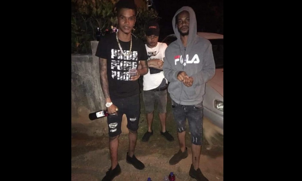 The men who were killed in a gun attack in St Ann on Saturday, (from left) Brandon Williams, Herman Wilson and Romario Higgins.
