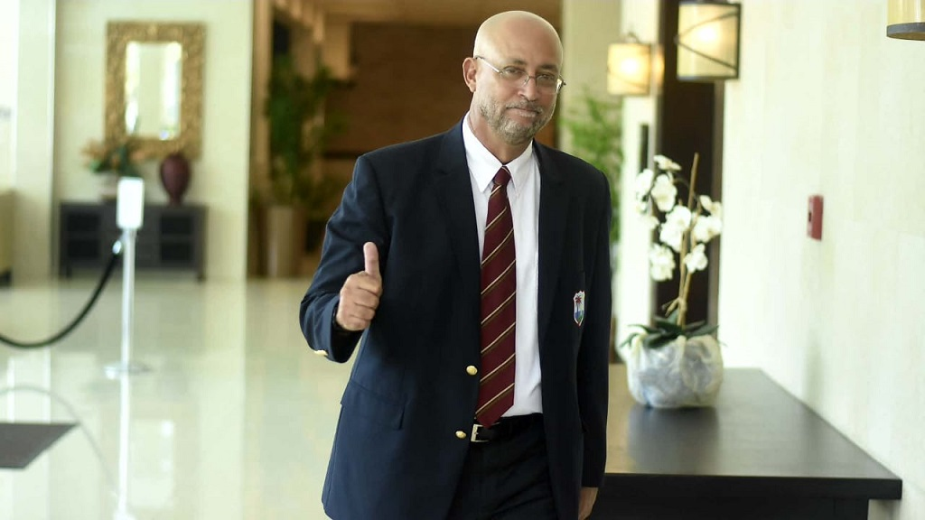 A March 24, 2019 file photo of Ricky Skerritt arriving at the Jamaica Pegasus Hotel on for Cricket West Indies (CWI) presidential election. (PHOTO: Marlon Reid).