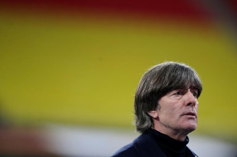L'entraîneur de l'Allemagne, Joachim Löw, lors du match de groupes de la Ligue des Nations contre l'Ukraine, à Leipzig, le 14 novembre 2020 Ronny HARTMANN AFP/Archives