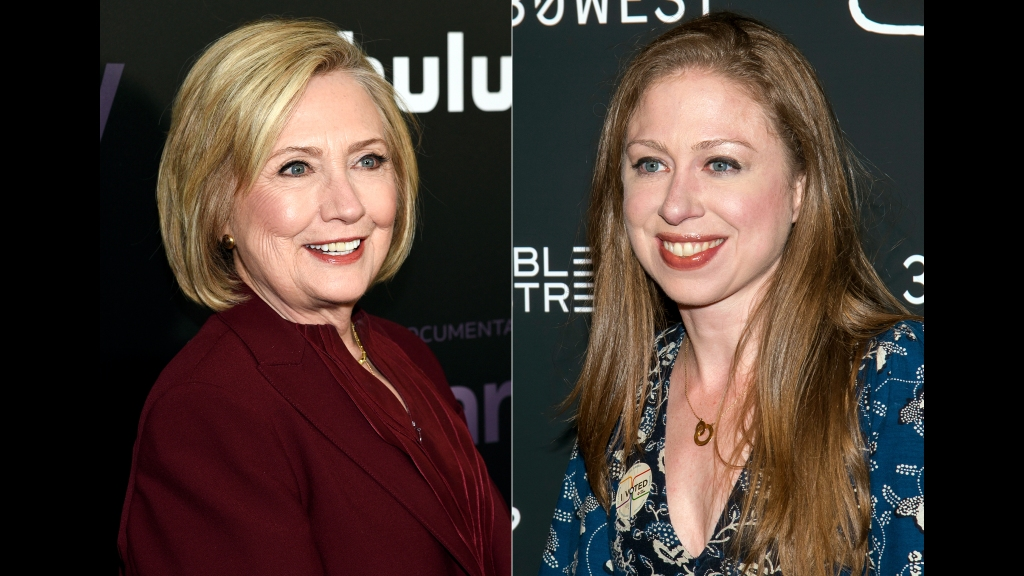 "Former secretary of state Hillary Clinton (left) attends the premiere of the Hulu documentary ""Hillary"" in New York of March 4, 2020, left, and Chelsea Clinton (right) attends a screening of ""Colette"" in New York on September 13, 2018. Photo: by Evan Agostini/Charles Sykes/Invision/AP"