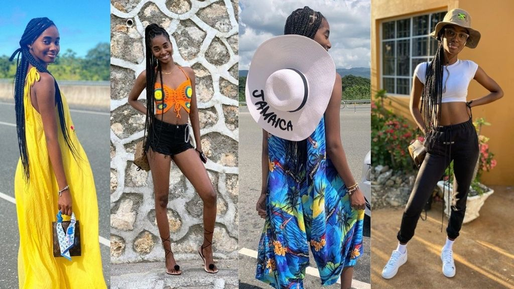 Saint International model Tami Williams in a series of images posted to her Instagram page. (Photos: via Instagram)