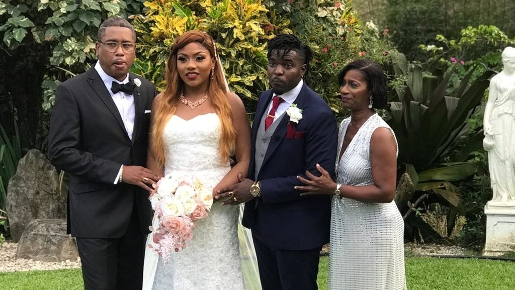 Soca artiste Preedy tied the knot today with his high-school sweetheart Tiffany Paul.