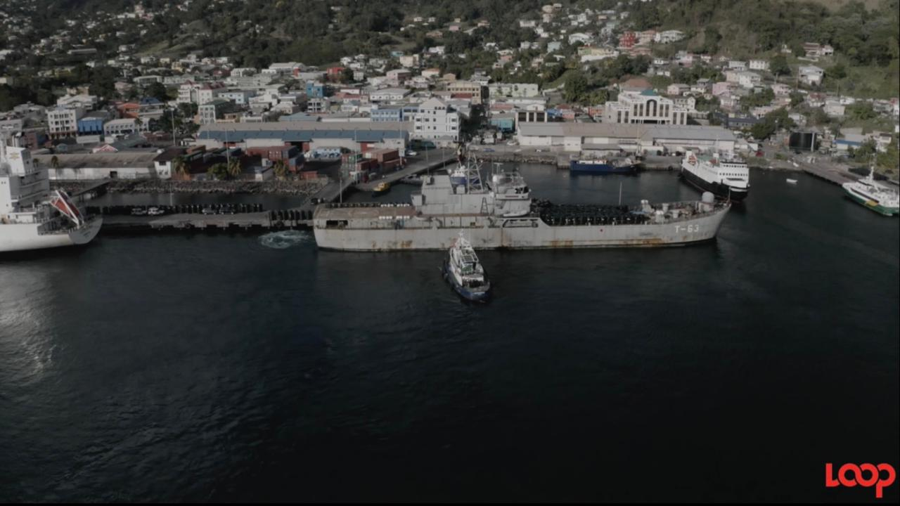 Kingstown Port in St Vincent.