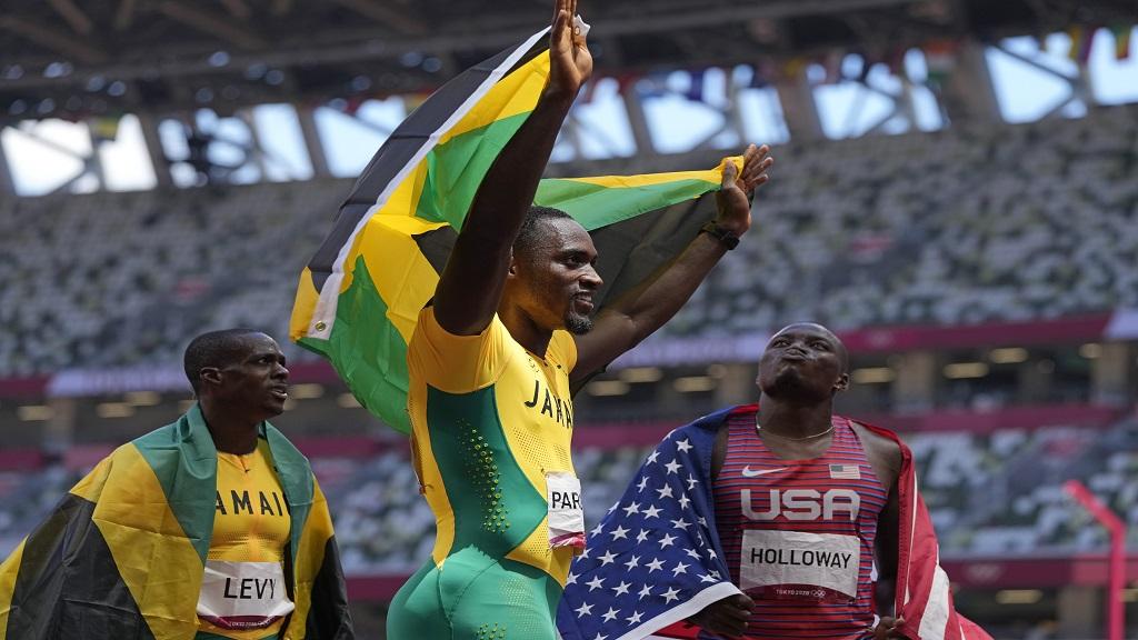Hansle Parchment won the gold medal  in the men's 110m hurdles