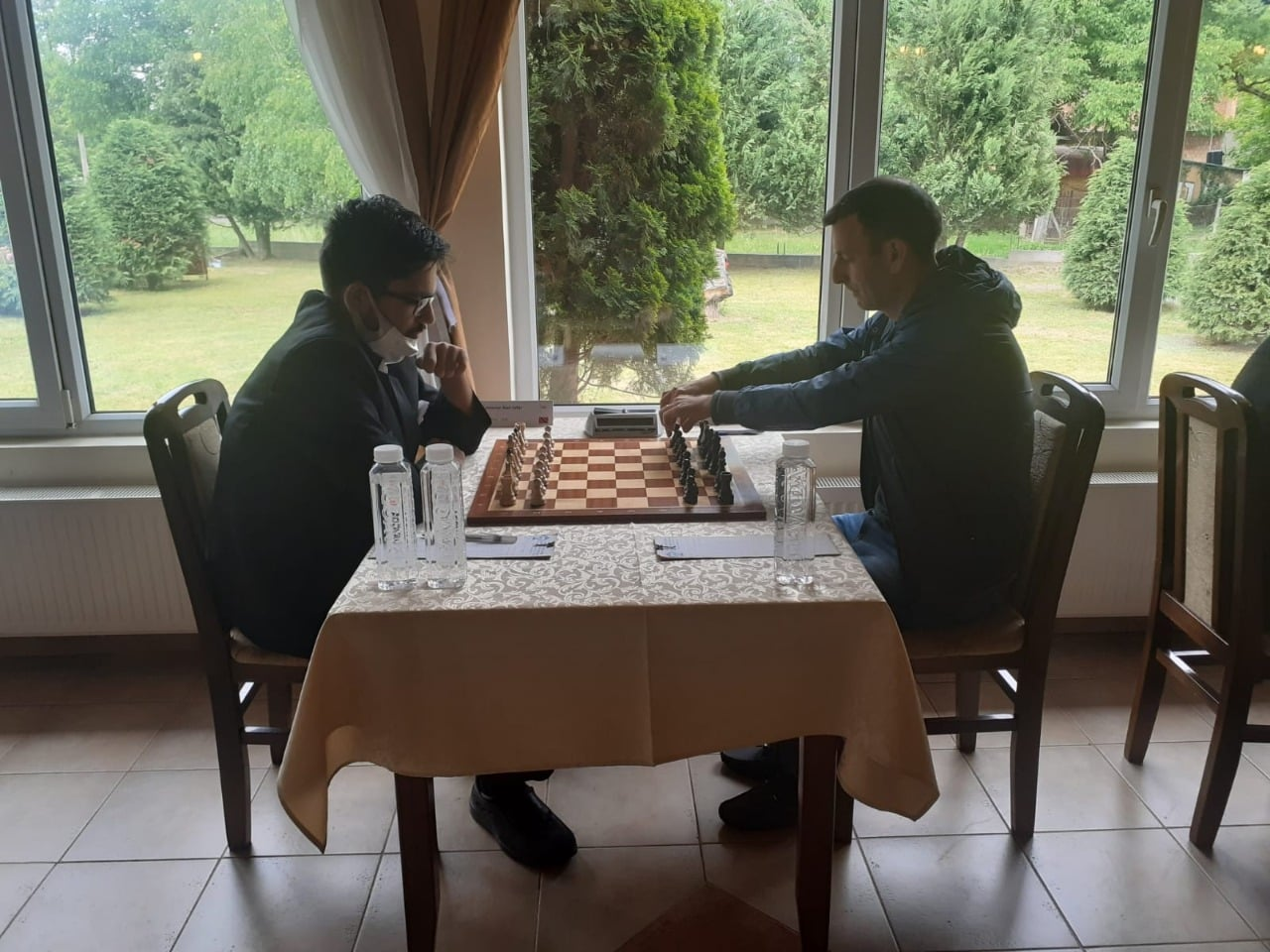 Trinidad and Tobago chess player, Alan-Safar Ramoutar, 18, plays during the Bosnia Premier League in Bosnia and Herzegovina. (Photo credit - Trinidad and Tobago Chess Association)