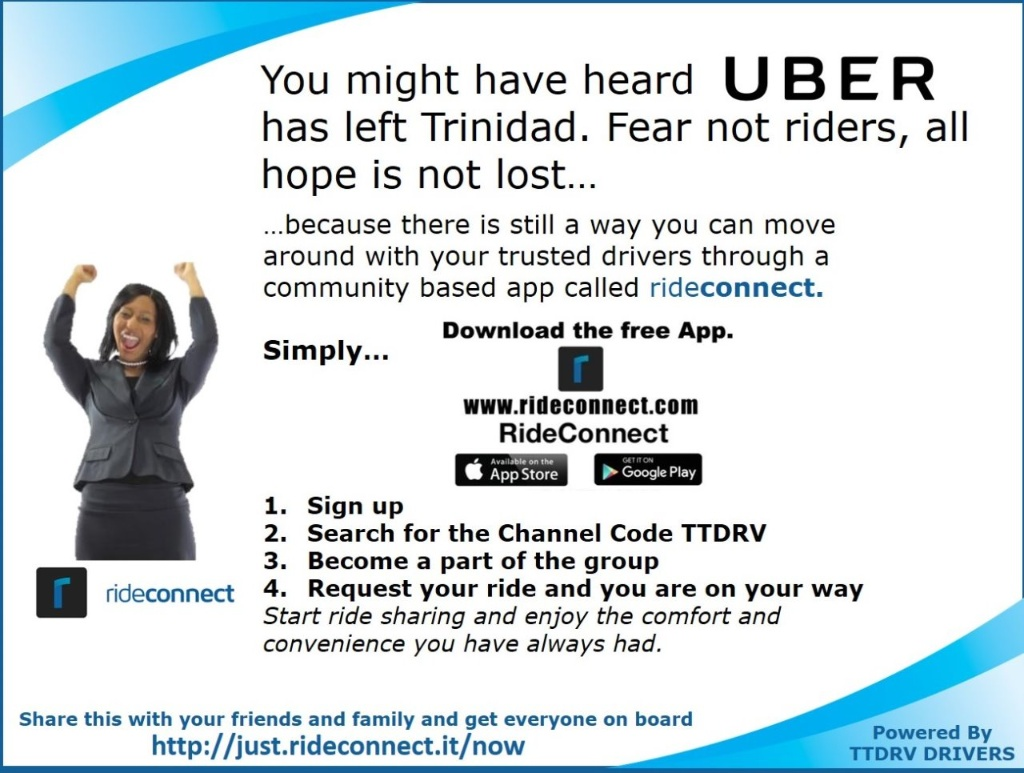 Trini ex-Uber drivers test alternative ride-sharing app, RideConnect