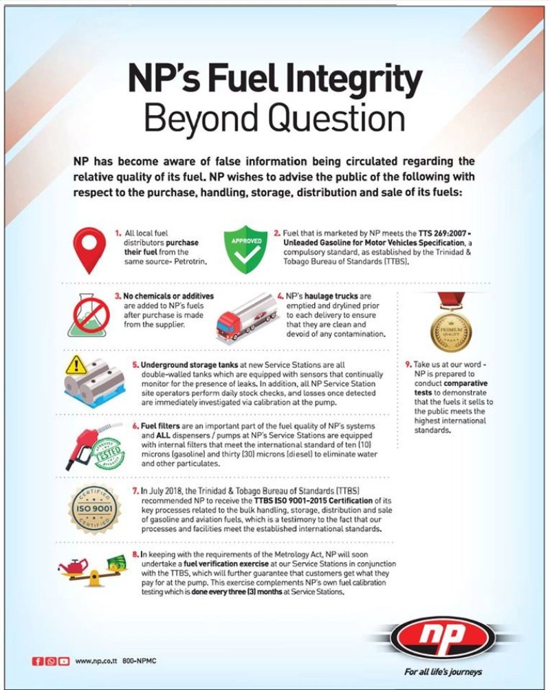 Np To Check Gas Quality At Service Stations Loop News Truck Fuel Filter Micron The Company Said Its Haulage Trucks Are Emptied And Drylined Before Each Delivery Ensure They Free Of Contamination