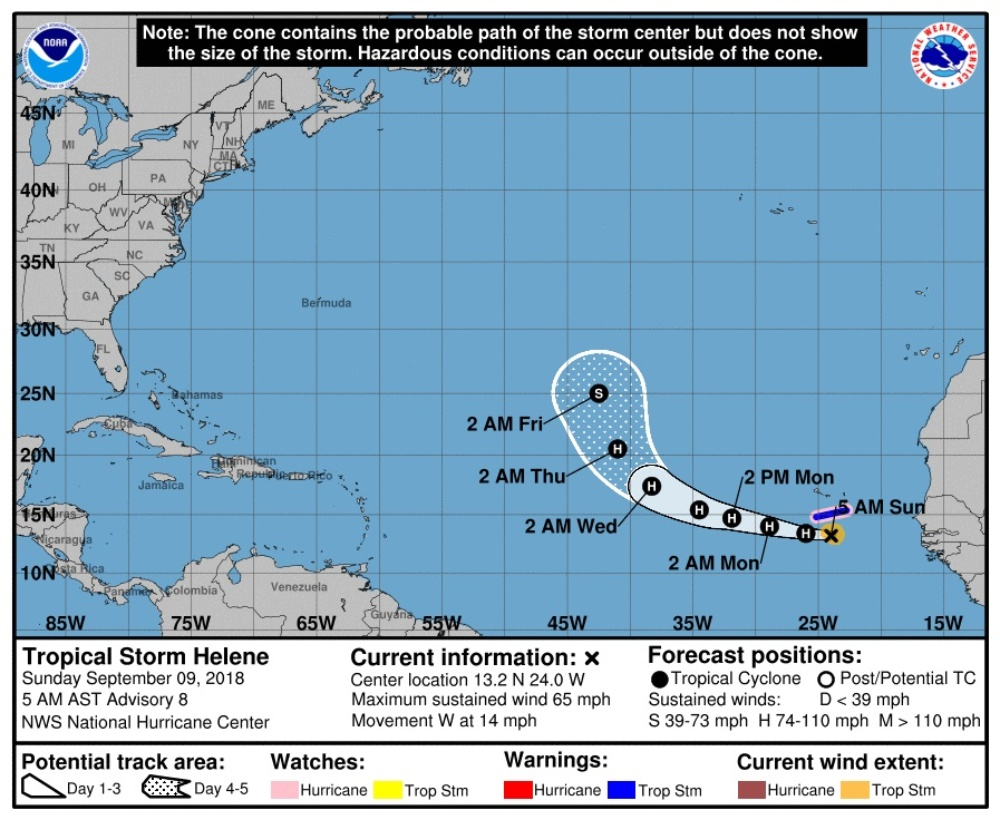 TROPICS: Florence expected to produce damaging winds in Carolinas