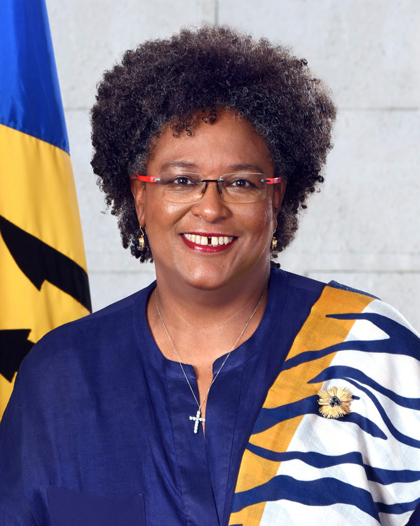 Prime Minister Mia Amor Mottley takes official photo | Loop Barbados