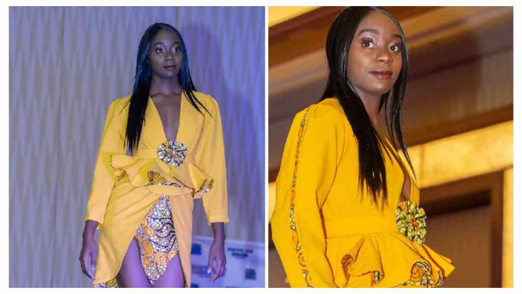 Some of the past designs from Caramel Weir's Allure Chic Couture line