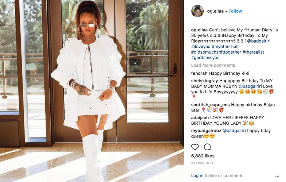 Rihannas cousins showing dirty 30 birthday love loop news almost seven thousand persons have liked her post in the past two hours and hundreds have commented adding their own birthday wishes for the bad gal riri m4hsunfo