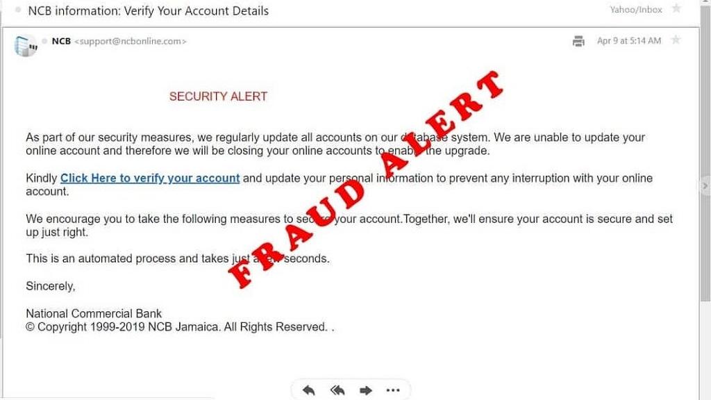 Fraudsters Seek Banking Information From Ncb Customers In Email Scam Loop News