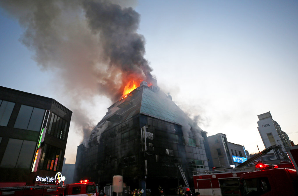 Smoke billows from high-rise building fire in South Korea killing 29
