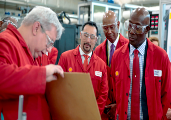 Ministers briefed by Shell rep.