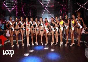 Contestants in the 2017 Moon Palace Jamaica Grande Miss Universe Jamaica North East regional pageant pose with their sashes at the hotel in Ocho Rios, St Ann on Friday evening.