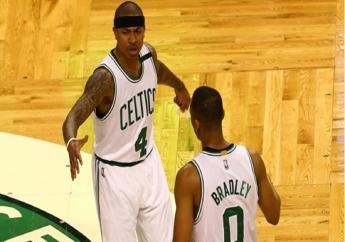 Boston Celtics celebrate.