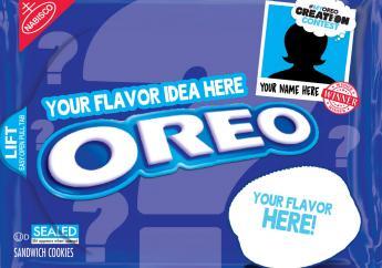 Zo zal de verpakking van de nieuwe gelimiteerde Oreo's eruit zien en ze liggen medio volgend jaar in de winkels.