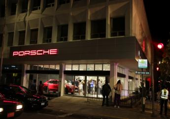 The exterior of the new Porsche showroom in Kingston.