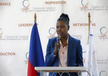 Daniella Jacques, présidente de la Chambre de Commerce des Femmes Entrepreneures d'Haïti