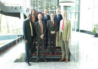(Front Row: Right to Left) His Excellency Dr. Lutz Goergens, Ambassador of Germany to T&T, His Excellency Hédi Picquart, Ambassador of France to T&T, His Excellency Arend Biesebroek, Head of the Delegation of the EU to T&T, Christopher Lewis, President InvesTT, 