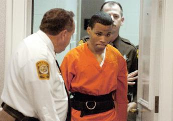 In this October 26, 2004, file photo, Lee Boyd Malvo enters a courtroom in the Spotsylvania, Virginia, Circuit Court. (PHOTO: AP)