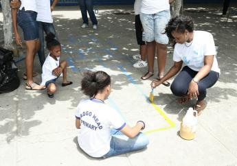 Over 400 Sagicor staff participated in Labour Day projects across the island.
