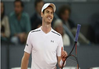 World number one Andy Murray reacts to losing a point against Borna Coric.