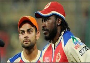 Virat Kohli (left) and Chris Gayle.