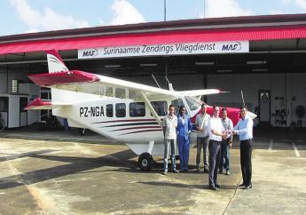 MAF Suriname beschikt over twee Airvans GA8 (8 personen) en een Cessna 206 (6 personen).