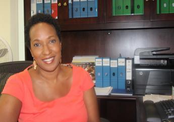 Executive Director of the Caribbean Export Development Agency, Pamela Coke-Hamilton.