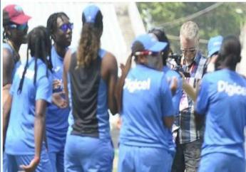 Members of the West Indies Women's team.