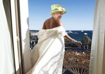 Rihanna's latest photoshopped picture of Queen Elizabeth II.