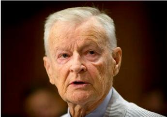 In this July 9, 2014 file photo, former National Security Adviser Zbigniew K. Brzezinski testifies on Capitol Hill in Washington, before the Senate Foreign Relations Committee hearing to examine Russia and developments in Ukraine. Brzezinski, the national security adviser to President Jimmy Carter, has died at age 89. His death was announced on social media Friday night, May 26, 2017, by his daughter, MSNBC host Mika Brzezinski.