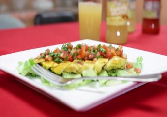 Juicy grilled chicken breasts with tomato salsa by Christopher Sinclair-McCalla.