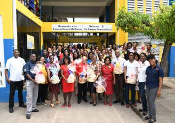 A total of 550 St Catherine teachers received gift packages from Jamaica Broilers Group.