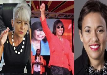 (From left) JPS CEO Kelly Tomblin, former Prime Minister Portia Simpson Miller and Scotiabank boss Jackie Sharp