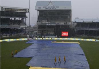 Rain forces the first ODI between West Indies and India in Trinidad to be abandoned.
