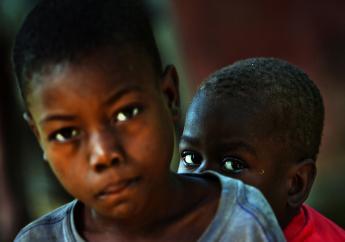 Deux enfants (Bois Carre, Haiti). Photo : Getty Images