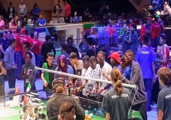 L'équipe d'Haiti participant à la première édition du concours robotique de Fist Global à Washington./Photo: François Joseph Berwith