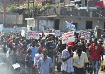 Manifestation au Cap-Haïtien. Photo et vidéo : Benjy Oricia